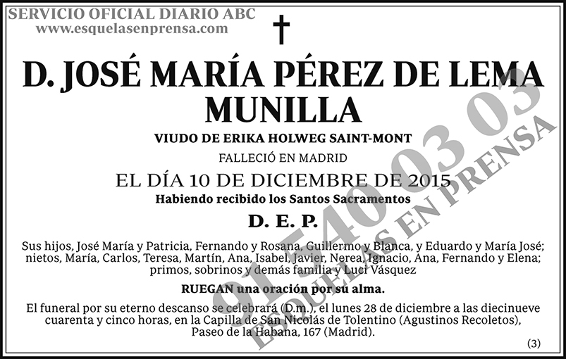 José María Pérez de Lema Munilla